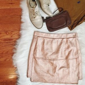 Forever 21 Mini Metallic Rose Gold Skirt Size S